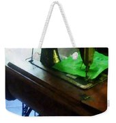 Sewing Machine With Green Cloth Weekender Tote Bag
