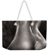 Sexy Nude Woman In Steam Room Naked Back Artistic Black And Whit Weekender Tote Bag