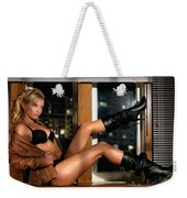 Sexy Woman In Lingerie Sitting On A Window Sill Weekender Tote Bag