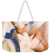 Sexy Woman On Sand Weekender Tote Bag
