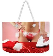 Sexy Woman Preparing For Christmas Holidays Weekender Tote Bag