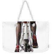 Sexy Woman Riding A Bike Weekender Tote Bag