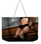 Sexy Young Woman In Lingerie Weekender Tote Bag