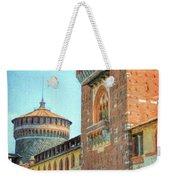 Sforza Castle Milan Italy Weekender Tote Bag