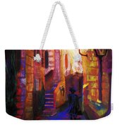 Shabbat Shalom Weekender Tote Bag by Talya Johnson