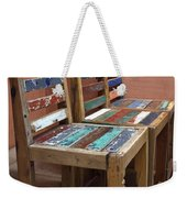 Shabby Chic Chairs Weekender Tote Bag