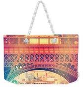 Shabby Chic Eiffel Tower Paris Weekender Tote Bag