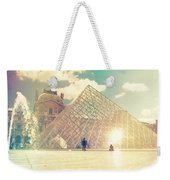 Shabby Chic Louvre Museum Paris Weekender Tote Bag