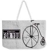 Shabby Chic, Old Bicycle No 01 Weekender Tote Bag