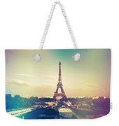 Shabby Chic Vintage Style Eiffel Tower Paris Weekender Tote Bag