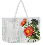 Shabby Chic Wildflowers On Wood Weekender Tote Bag