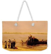 Shad Fishing At Gloucester On The Delaware River 1881 Weekender Tote Bag