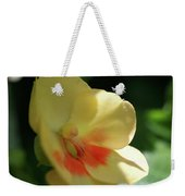 Shaded Yellow Orchid Weekender Tote Bag