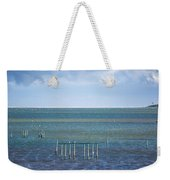 Shades Of Blue On The Horizon Weekender Tote Bag