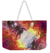 Shades Of Red Abstract Weekender Tote Bag