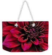 Shades Of Red - Dahlia Weekender Tote Bag by Kaye Menner