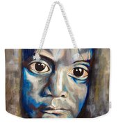 Shades Of Why, Sad Child Painting Weekender Tote Bag