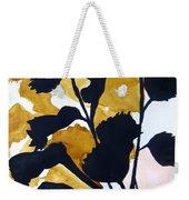 Shadow Hibiscus Weekender Tote Bag