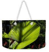 Shadow On A Ruffled Fan Palm Weekender Tote Bag