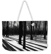 Shadows And Tracks Weekender Tote Bag