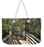 Shadows On A Boardwalk Through The Swamp Weekender Tote Bag