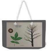Shagbark Hickory Tree Id Weekender Tote Bag