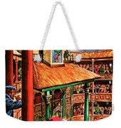 Shakespeare Performing At The Globe Theater Weekender Tote Bag