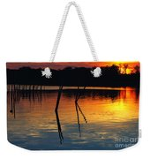 Shallow Water Sunset Weekender Tote Bag