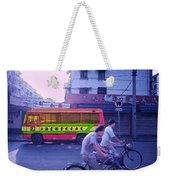 Shanghai Pink Bus Weekender Tote Bag