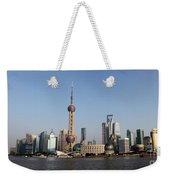 Shanghai Skyline Weekender Tote Bag