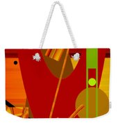 Shapes And Patterns In Red Weekender Tote Bag