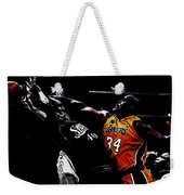 Shaq Protecting The Paint Weekender Tote Bag