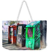 Share Your Metro With A Friend Weekender Tote Bag