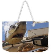 Shark On The Wall Weekender Tote Bag