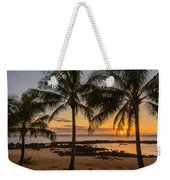 Sharks Cove Sunset 4 - Oahu Hawaii Weekender Tote Bag