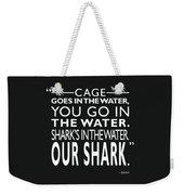 Sharks In The Water Weekender Tote Bag