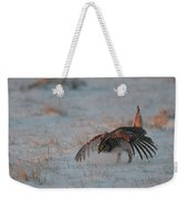 Sharptail Grouse On Snow Weekender Tote Bag