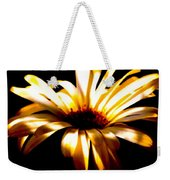Shasta Daisy On Black Backgroun Weekender Tote Bag