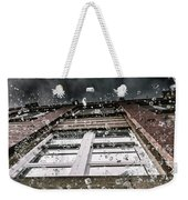 Shattering Pieces Of Glass Falling From Window Weekender Tote Bag