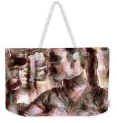She And Glass Weekender Tote Bag