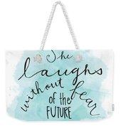 She Laughs Weekender Tote Bag