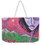 She Loved The Poppies Weekender Tote Bag
