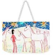 She Meets The Moon Unicorns Weekender Tote Bag