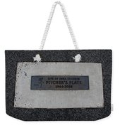 Shea Stadium Pitchers Mound Weekender Tote Bag by Rob Hans