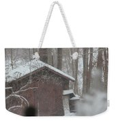 Shed Thru Glass And Snow Weekender Tote Bag