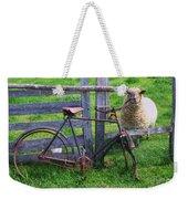 Sheep And Bicycle Weekender Tote Bag