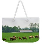 Sheep And Covered Bridge Weekender Tote Bag