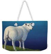 Sheep At The Edge Weekender Tote Bag