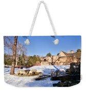 Sheep Farm In Winter Weekender Tote Bag