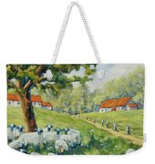 Sheep Huddled Under The Tree Farm Scene Weekender Tote Bag